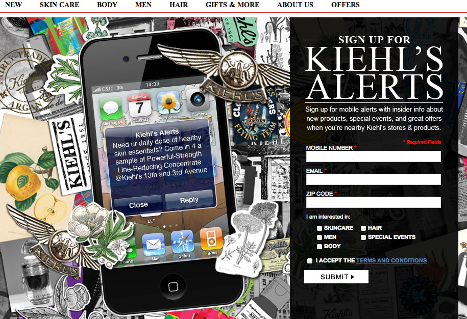 Kiehl's SMS Marketing Case Study
