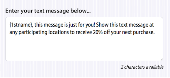 Personalized SMS Promotion