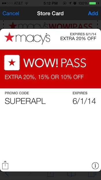 Macy s gives sms subscribers option to store mobile coupon for Discount mobili on line