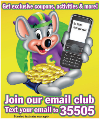 More Cheese Rewards gives you and your family more of the Chuck E. Cheese's you Coupons Available · Gift Cards Available · New Menu · Free Wi-Fi El Camino Real, Redwood City · Directions · ()