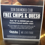 Qdoba Text Message Loyalty Program