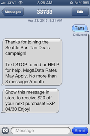 SMS Marketing Case Study - Tanning Salon