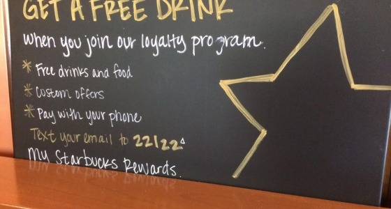 Starbucks SMS Loyalty Program Advertising