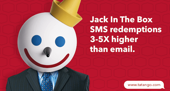 Jack In The Box SMS Marketing Redemptions