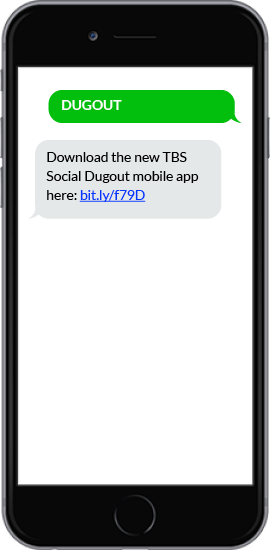 SMS Autoresponder App Download Example - TBS Social Dugout