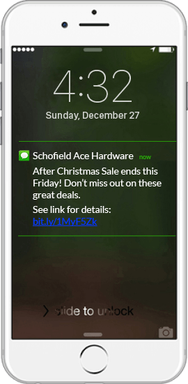 SMS Marketing Example - Ace Hardware