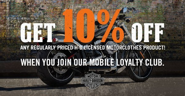 SMS Advertising Example - Harley Davidson