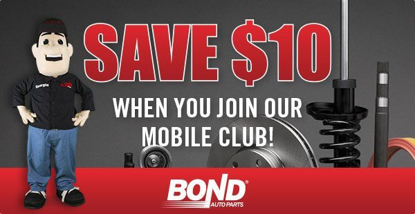 SMS Advertising Example - Bond Auto Parts