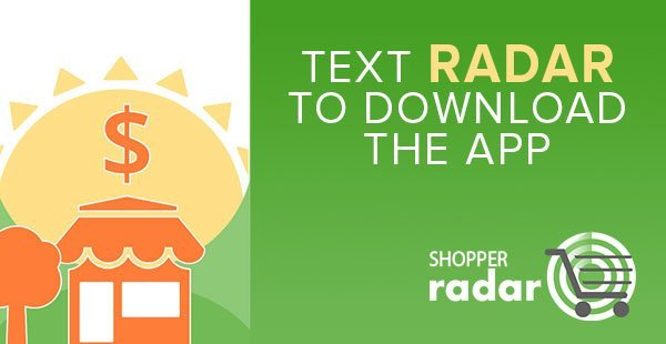 Shopper Radar SMS Advertising Example