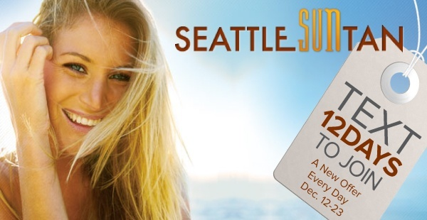 Seattle Sun Tan SMS Advertising Example