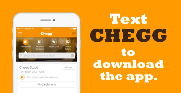 CHEGG SMS Advertising Example