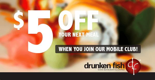 SMS Advertisement - Drunken Fish Restaurant