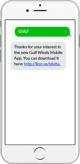 SMS App Download Example - Gulf Winds Bank